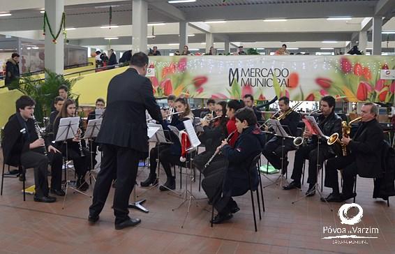 Orquestra de Sopros no Mercado de Natal