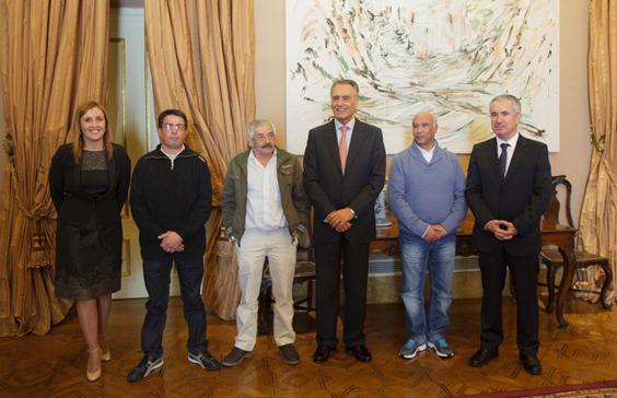 Artur Alves, Horácio Costa e José Pinheiro recebidos pelo Presidente da República