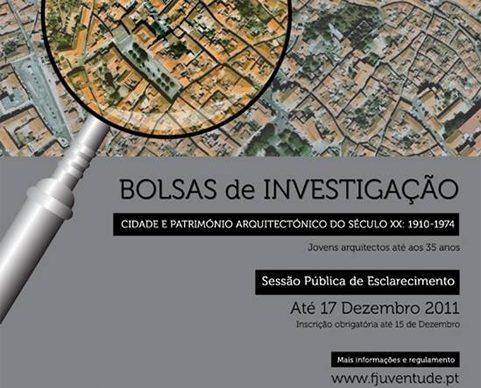 Bolsas de Investigação na área da Cidade e da Arquitectura