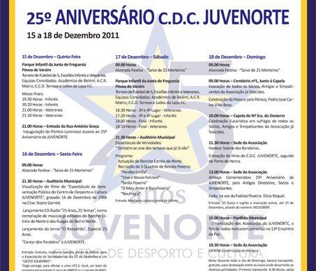 Comemoração do 25º Aniversário da JuveNorte