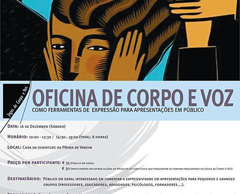 Oficina de Corpo e Voz como ferramentas de expressão para apresentações em público