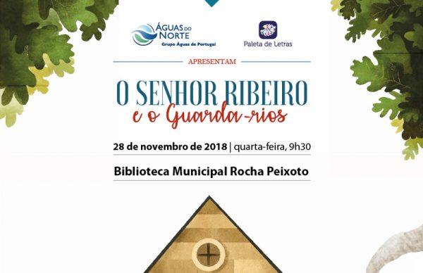 O senhor Ribeiro e o guarda-rios: apresentação na Biblioteca