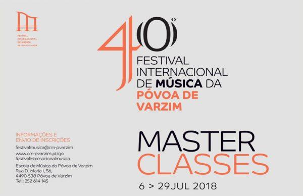 40º FIMPV: Inscrições Masterclasses