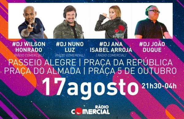 Wilson Honrado, Ana Isabel Arroja e Nuno Luz: estrelas da Rádio Comercial na Noite Branca