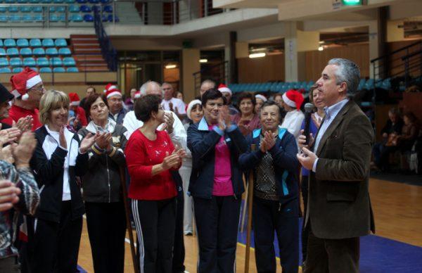 No desporto sénior presidente do município desejou ano de 2014 mais solidário
