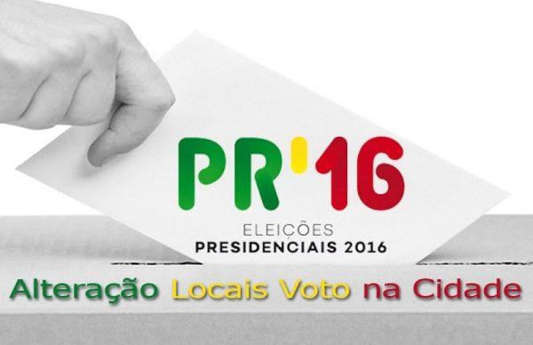 Eleições Presidenciais: alteração aos locais de votação na cidade