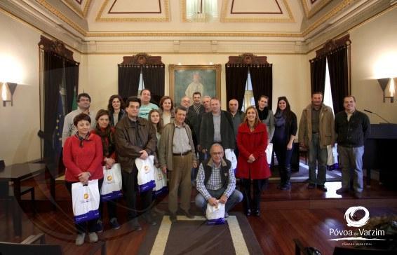 Grupo de gregos recebido nos Paços do Concelho