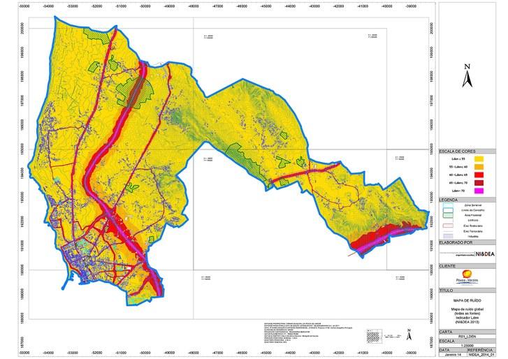Mapa Ruido Lden C M Da Povoa De Varzim