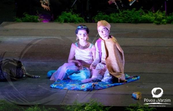 Musical Aladino animou a manhã de sábado