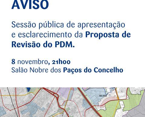 Proposta de Revisão do PDM – Sessão pública