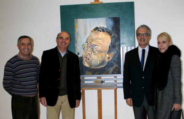 Retrato de Manuel Lopes oferecido por Afonso Pinhão Ferreira à Biblioteca