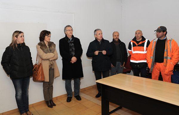 Aires Pereira levou Boas Festas aos funcionários camarários