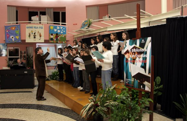 As Escolas cantam o Natal, no Diana Bar