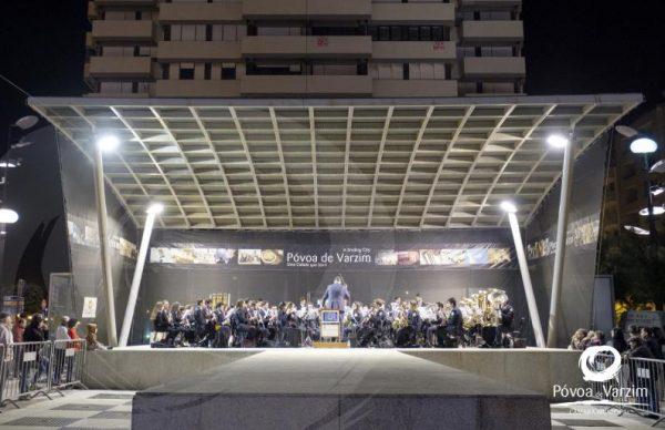Concerto pela BMPV e Banda Cabeceirense, no Largo do Passeio Alegre