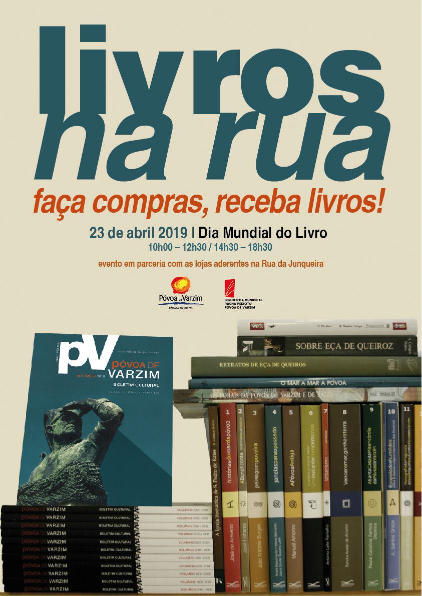 """""""Livros na Rua"""" no Dia mundial do Livro"""