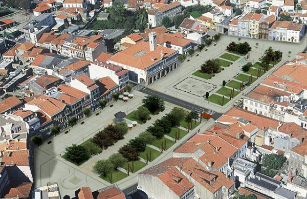 Imagens virtuais da nova Praça