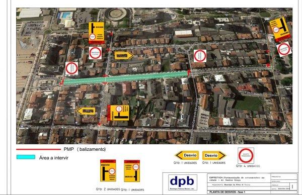 Avenida Santos Graça em obras: condicionamentos de trânsito