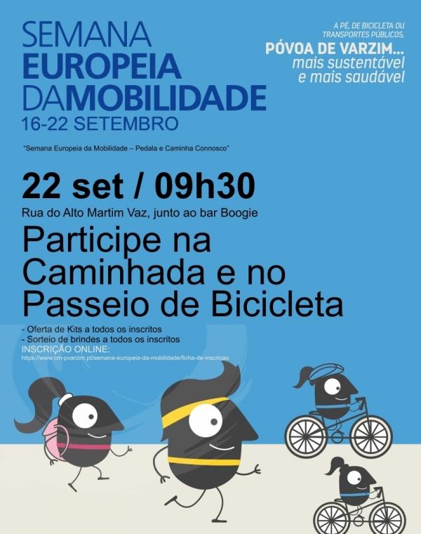 Caminhada e Passeio de Bicicleta na Semana Europeia de Mobilidade