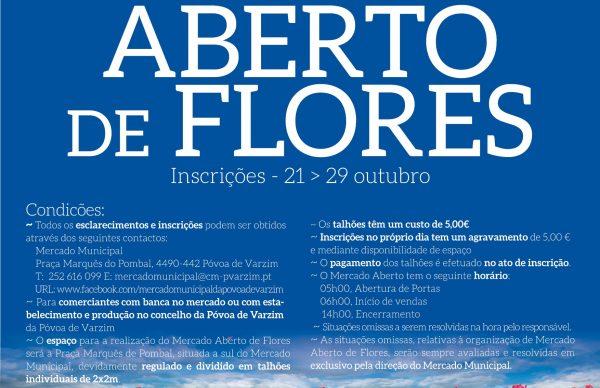 Mercado Aberto de Flores: inscrições abertas