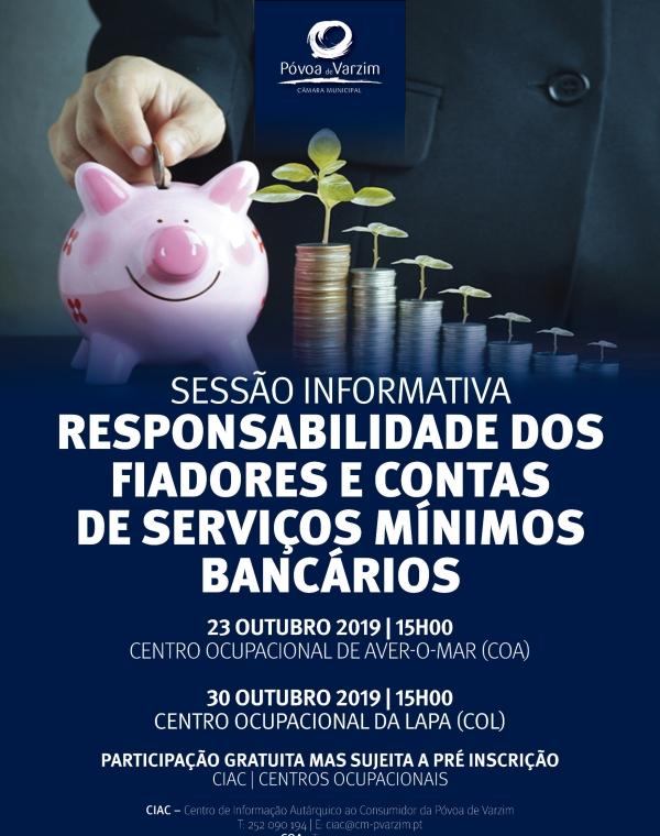 """Sessões Informativas sobre """"Responsabilidade dos Fiadores e """"Contas de Serviços Mínimos"""""""