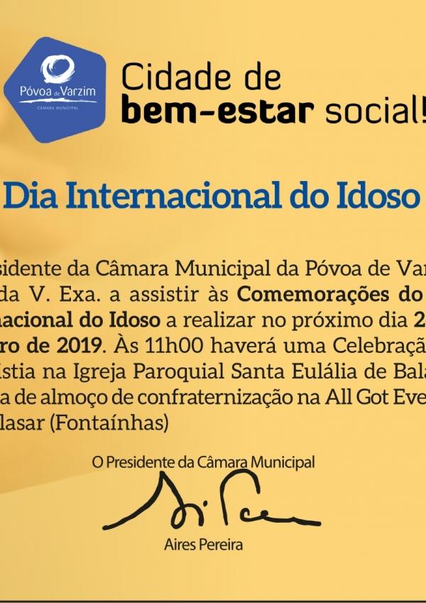 Comemorações do Dia Internacional do Idoso