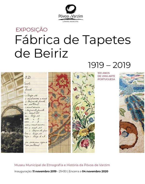 """Exposição: """"1º Centenário da Fábrica dos Tapetes de Beiriz"""" - Atividade Suspensa"""