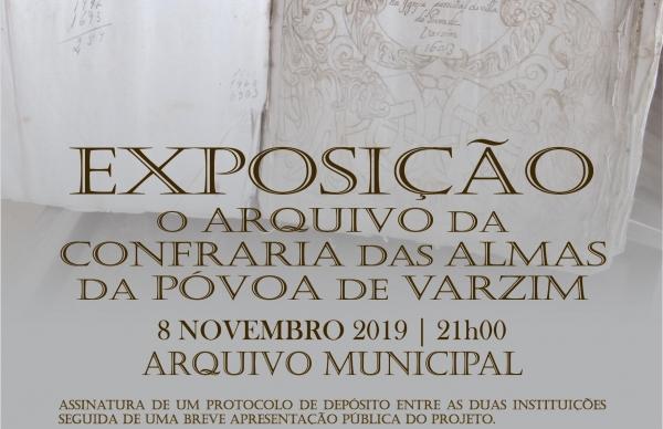 """""""O arquivo da Confraria das Almas da Póvoa de Varzim"""" será apresentado, esta noite, no Arquivo Municipal"""