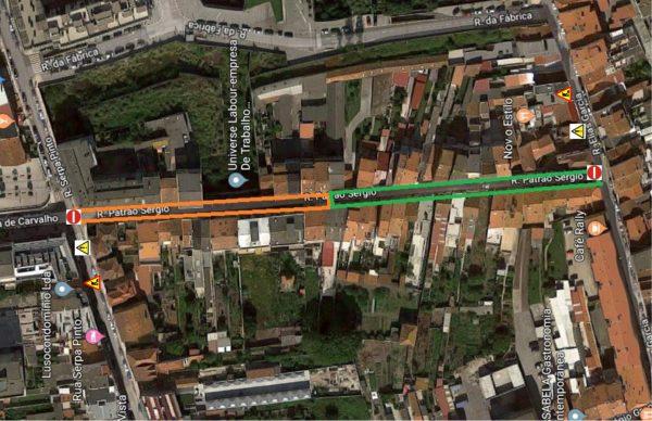 Rua Patrão Sérgio: trabalhos arrancam segunda-feira