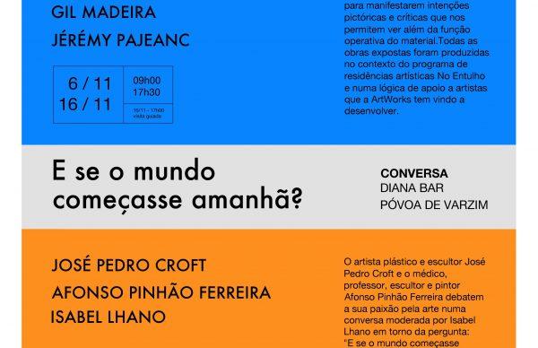 """""""E se o mundo começasse amanhã?"""" Conversa entre os artistas Pedro Croft e Afonso Pinhão Ferreira"""