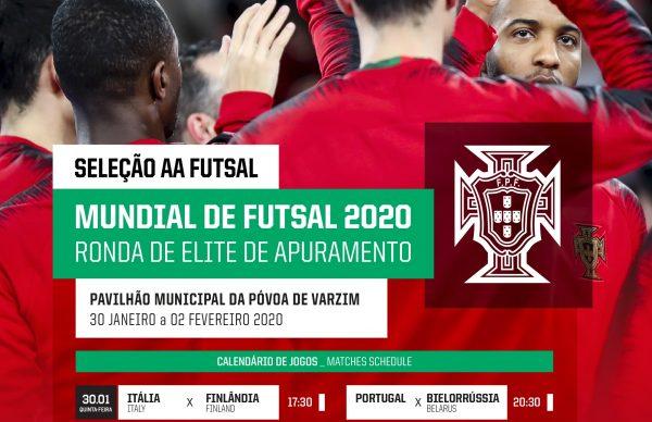 Jogo de qualificação para Campeonato do Mundo Lituânia 2020 na Póvoa de Varzim