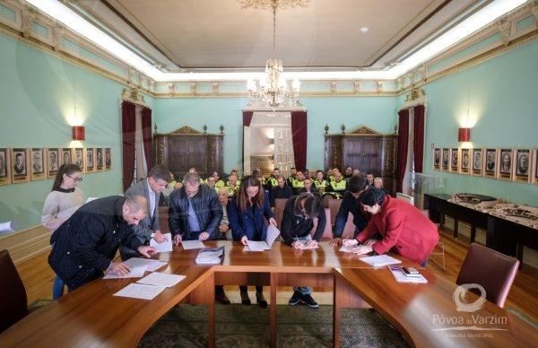 Novos funcionários municipais recebidos pelo Presidente da Câmara