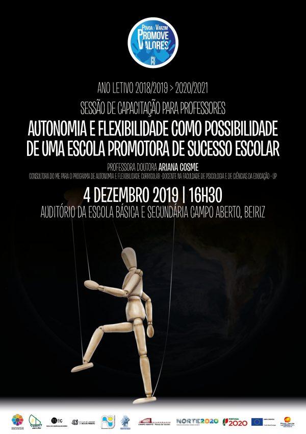 """Sessão de capacitação sobre """"Autonomia e flexibilidade como possibilidade de uma escola promotora de sucesso escolar"""""""