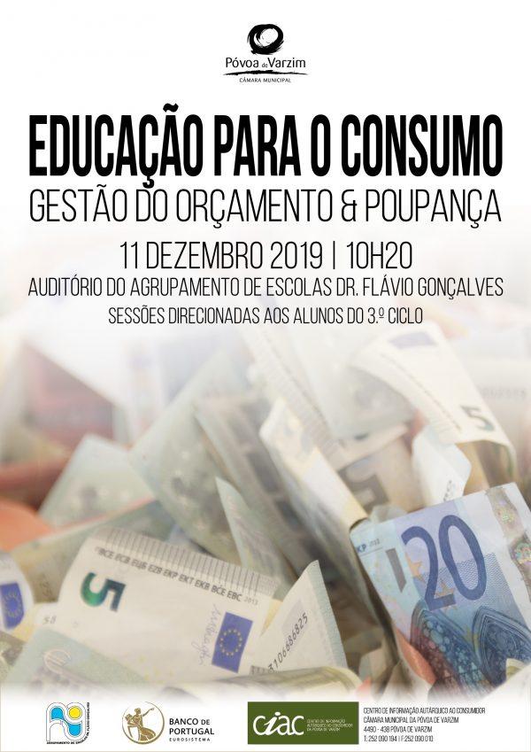 """Sessões sobre """"Educação para o  consumo-gestão do orçamento e poupança"""""""