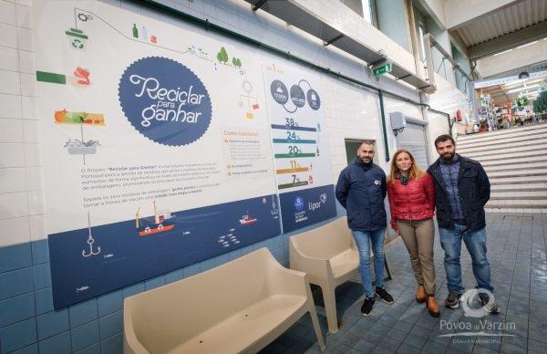 Máquina de recolha de recicláveis no Mercado Municipal comemora 1 ano de grande sucesso