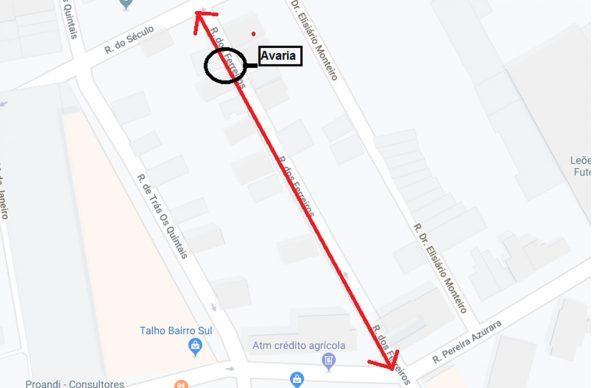 Condicionamento de trânsito na Rua dos Ferreiros segunda-feira