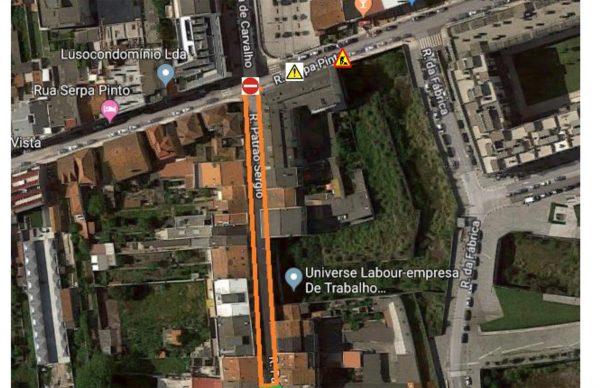Obras na Rua Patrão Sérgio: 2ª fase arranca segunda-feira