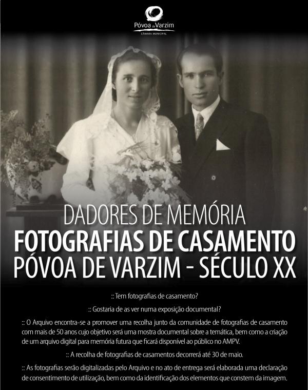 Dadores de Memória: fotografias de casamento do concelho da Póvoa de Varzim  (século XX)