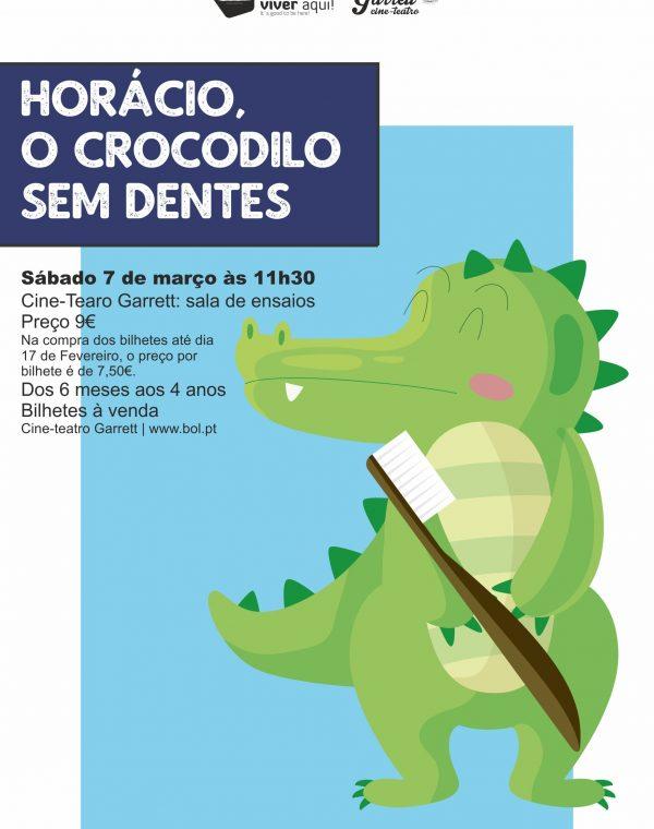 """Espetáculo de Teatro para bebés: """"Horácio, o crocodilo sem dentes"""""""