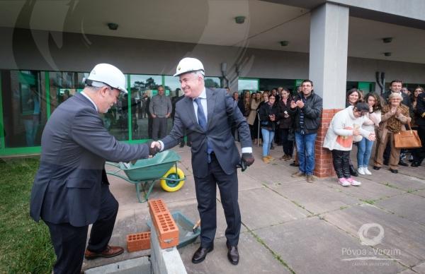 Lançamento da primeira pedra do edifício Ampliação e Reconversão de um Centro de Atividades Ocupacionais Solidário e de Hidroterapia