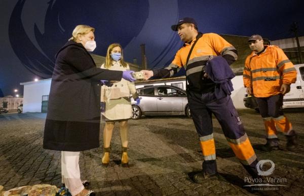 """Noite """"adocicada"""" para os funcionários da limpeza urbana da Póvoa de Varzim"""