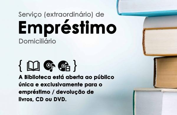 Biblioteca Municipal reativa serviço de empréstimo domiciliário de livros, CDs e DVDs