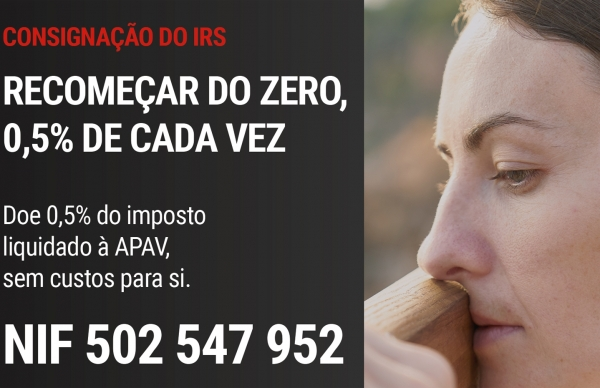 Atribua, sem custos, 0,5% do seu IRS à APAV