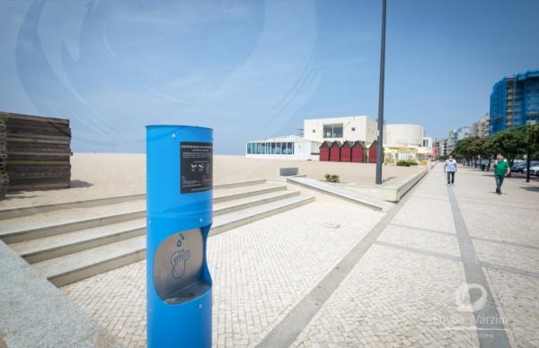 Município instala dispensadores de gel na cidade