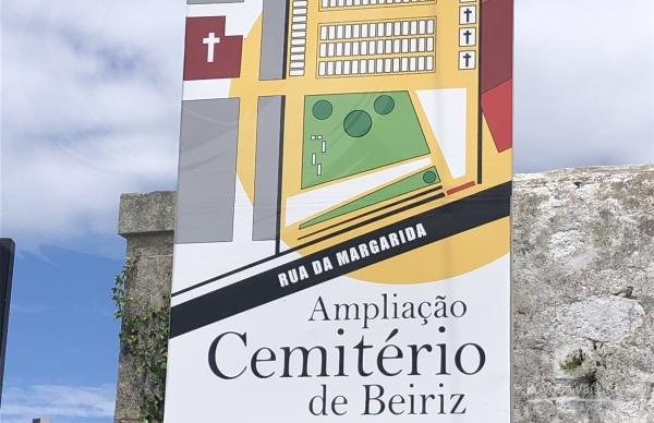 Visita à obra de ampliação do cemitério de Beiriz