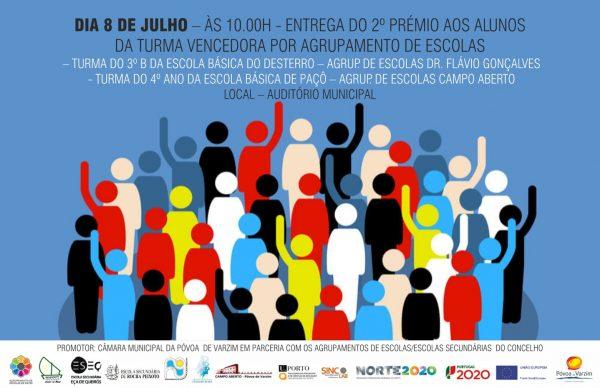 """""""Olimpíadas da Cidadania e do Património"""": entrega 2º Prémio a 8 de julho"""