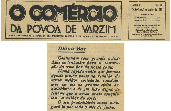 80.º aniversário Diana-Bar: recortes de imprensa