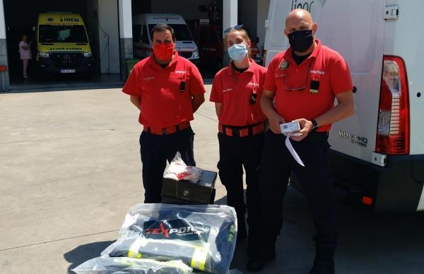Bombeiros da Póvoa recebem donativos resultantes da recolha seletiva Porta-a-Porta
