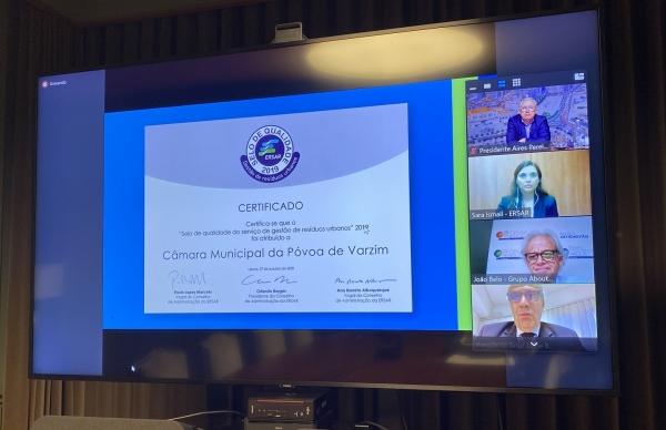 Póvoa de Varzim premiada pela qualidade de excelência da gestão de resíduos