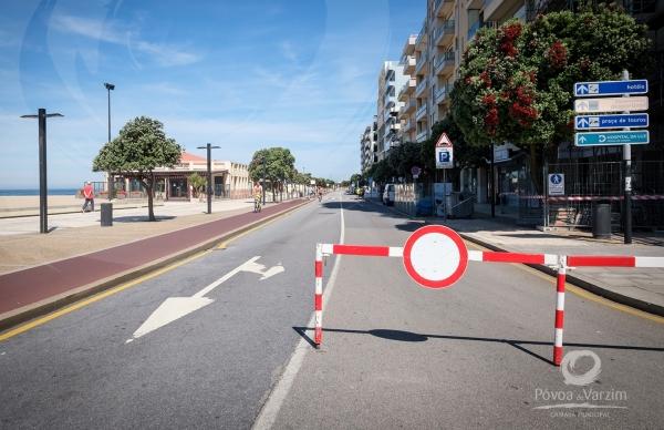 Interdição de trânsito automóvel na Avenida dos Banhos só aos domingos