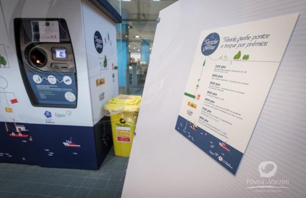 Reativação da máquina de recolha de recicláveis